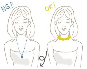 面長顔(逆三角顔)が似合うネックレス