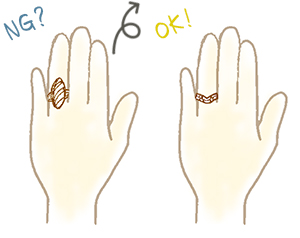 短い指が似合うリング(指輪)