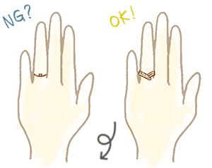 長い指が似合うリング(指輪)