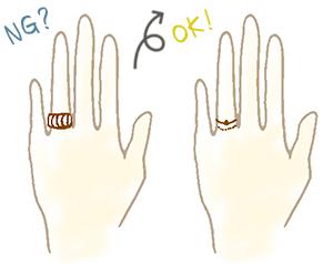 華奢な指が似合うリング(指輪)